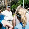 Tim talking to the troops - 2006 Alumni Regatta