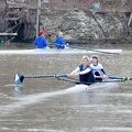Women s Pair launching from dock