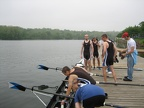 6   Setting down the oars