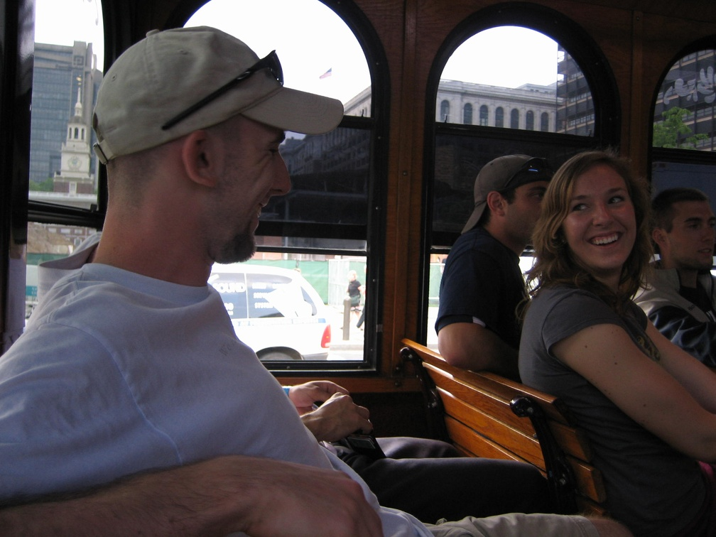 72   On the Trolly after walking 7 miles