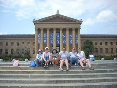 In front of the Phila Museum of Art