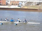 Women s Four at the Finish