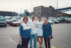 Doug and Craig with their Moms in the Flats