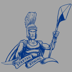 Spartan Sam Adams - One Color Blue on Grey