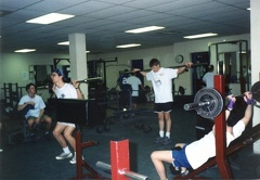Rathburn and Bachmann in the Weight Room