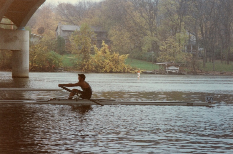Speakmon 1996 - Doug returning to the dock after the race